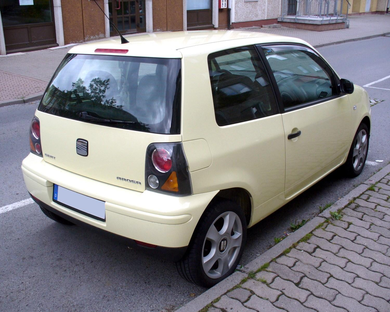 file seat arosa facelift champagnergelb heck jpg wikimedia commons. Black Bedroom Furniture Sets. Home Design Ideas