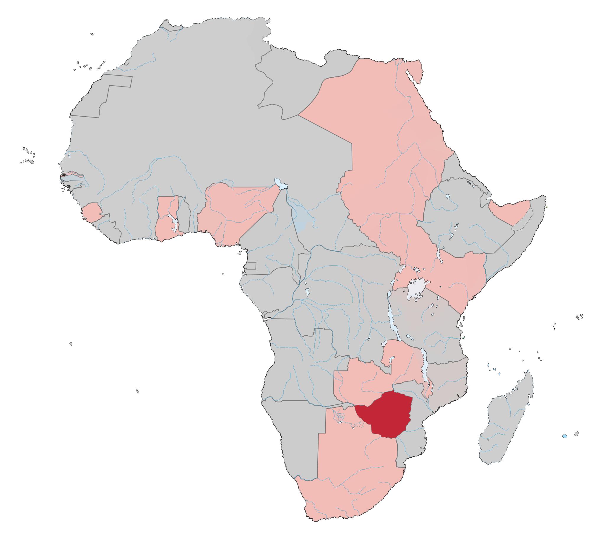 africa map rhodesia