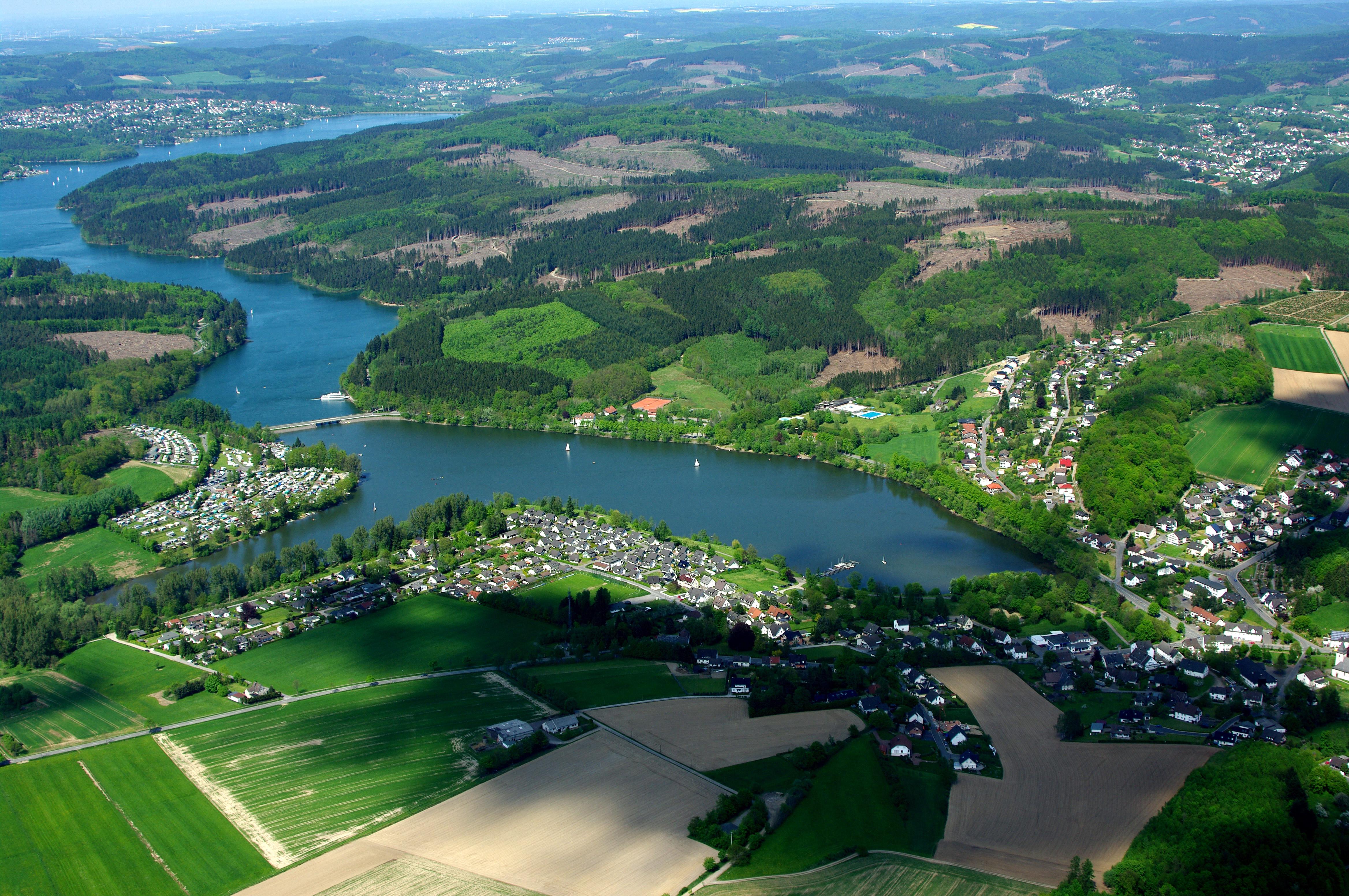 Typische Siedlungsstruktur in Nordrhein-Westfalen