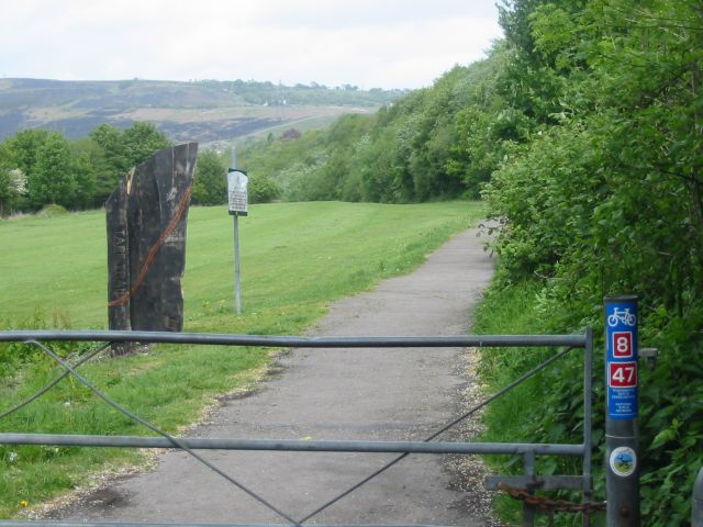 Taff Trail leaving Pontypridd