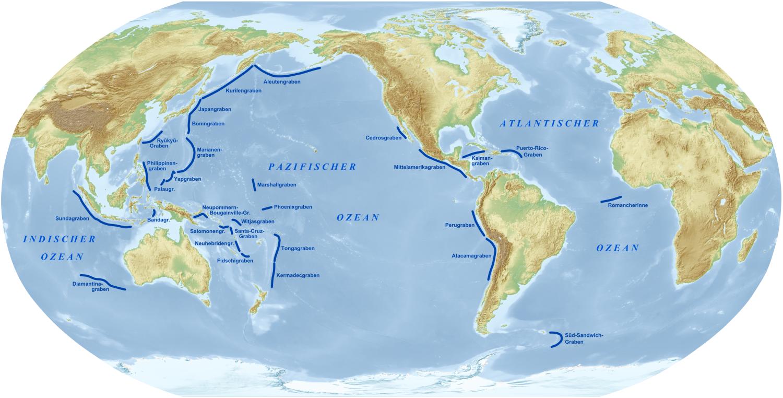 Liste der Tiefseegräben – Wikipedia