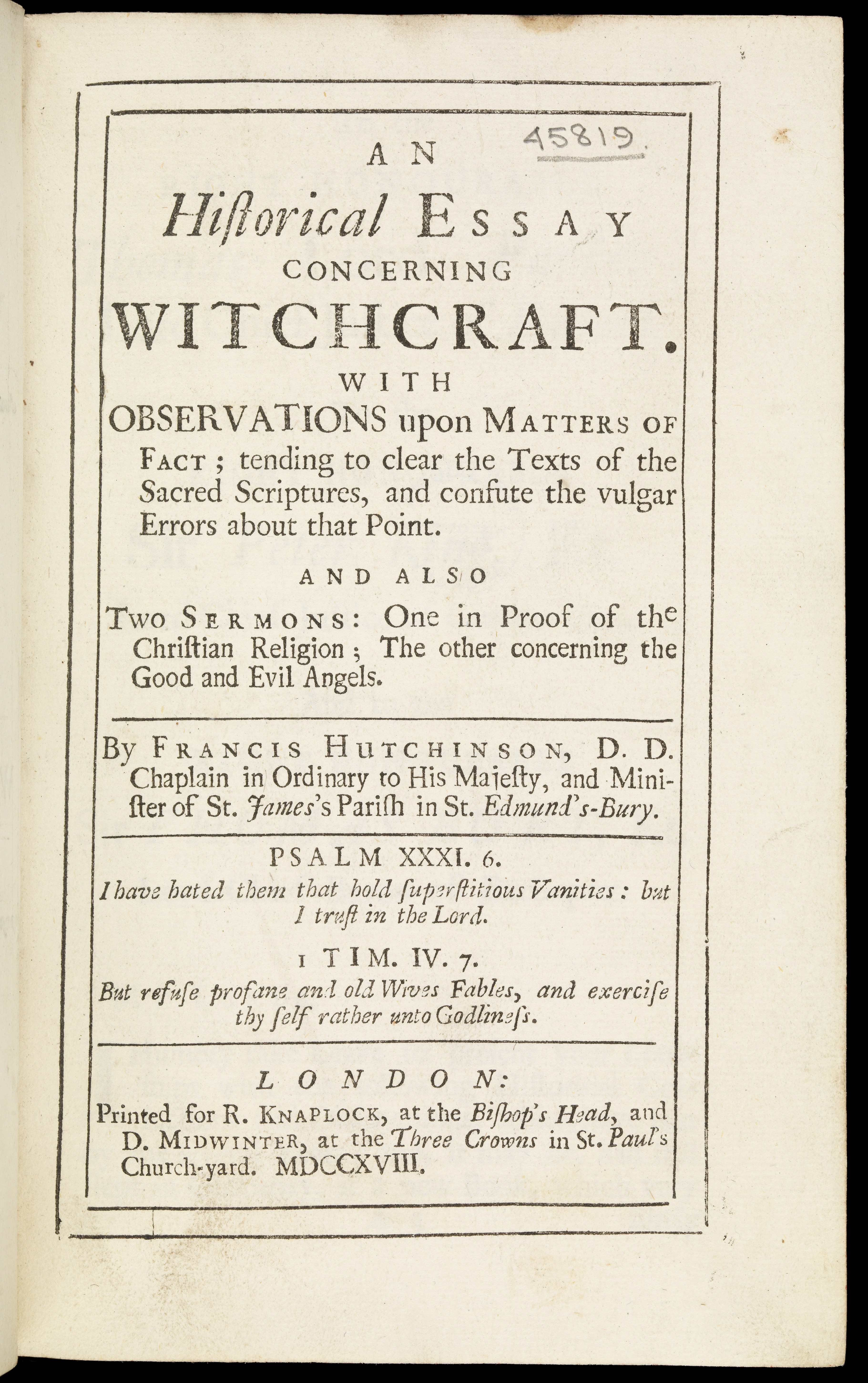 essay titles on witchcraft This is a case where people accused other people of witchcraft salem witch trials essay by lauren bradshaw november 23 in this essay.