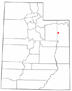Location of Fort Duchesne, Utah