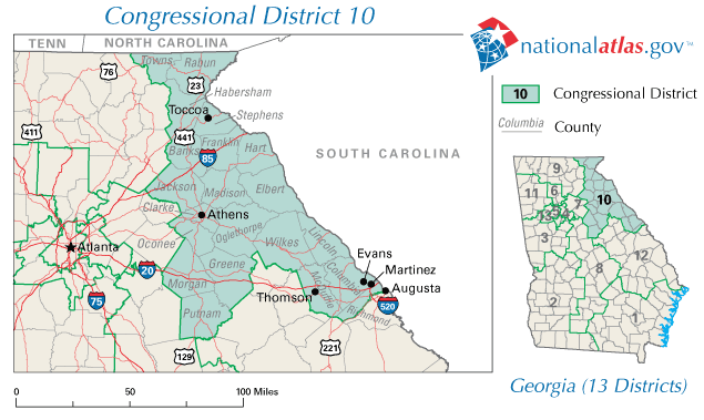 Map Of Georgia Voting Districts.File United States House Of Representatives Georgia