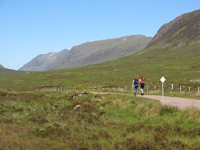 West Highland Way walkers, Kingshouse - geograph.org.uk - 1352612