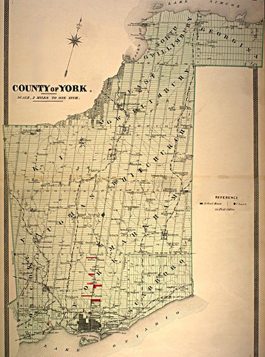 Map Of York Canada.York County Ontario Wikipedia