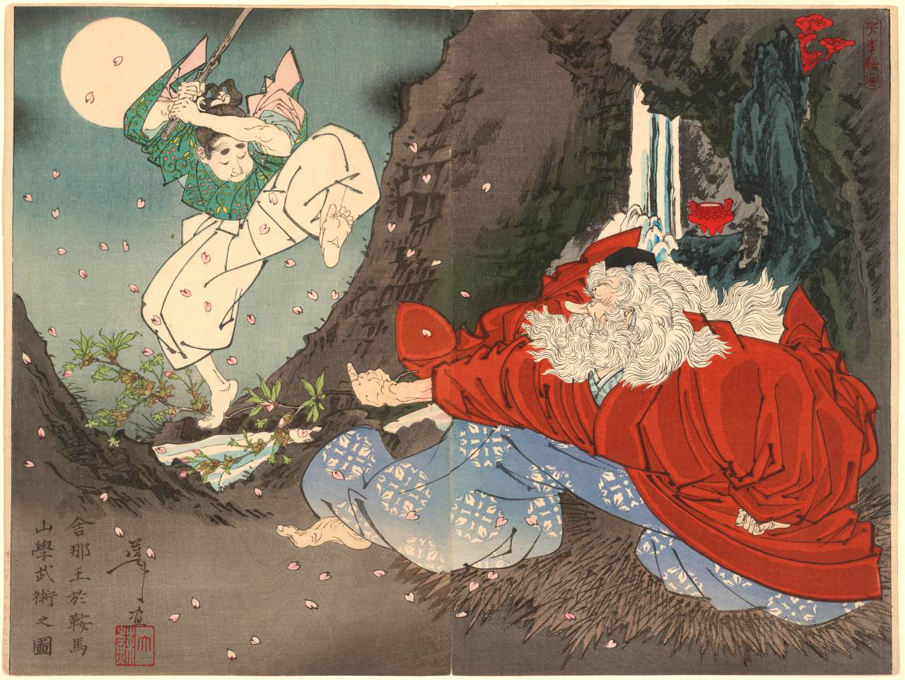 Yoshitoshi Sojobo Instructs Yoshitsune in the Sword.jpg