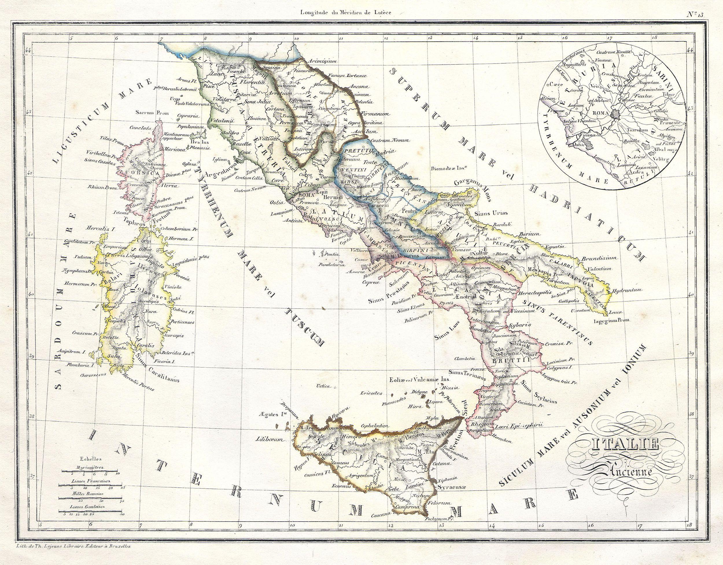 Roman Italy Map Greece Map