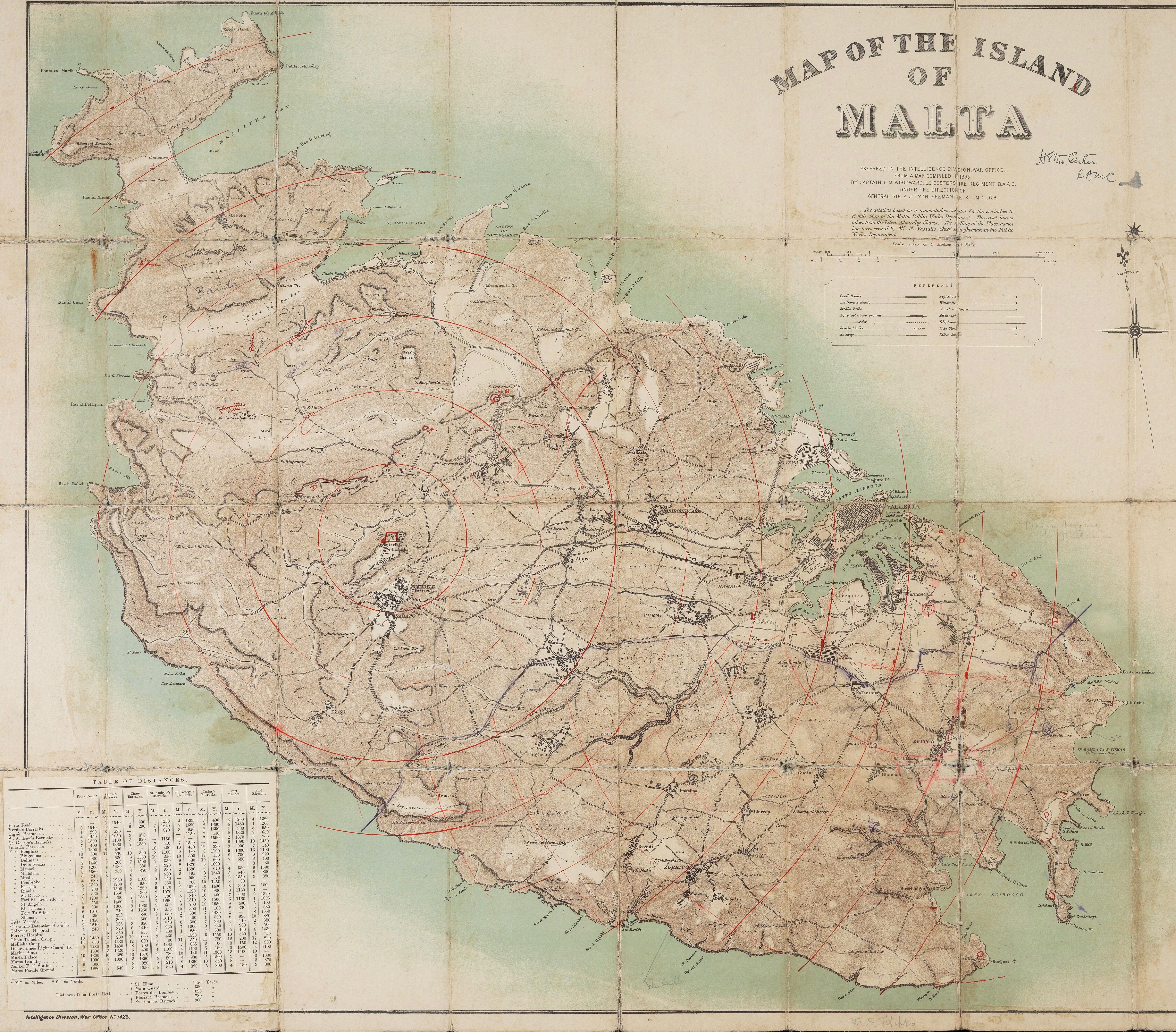 Picture of: File 1895 Map Of The Island Of Malta Jpg Wikimedia Commons