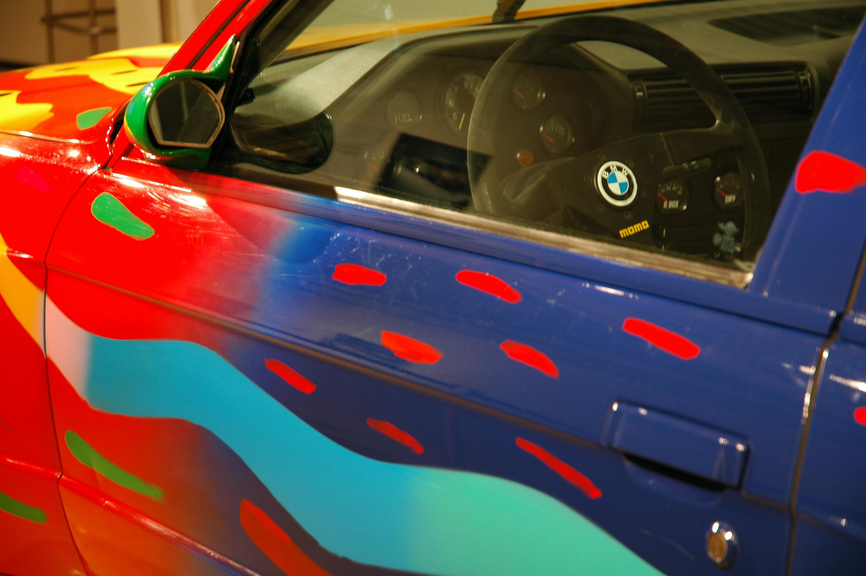 File:1989 BMW M3 Group A Art Car by Ken Done window.jpg - Wikimedia ...