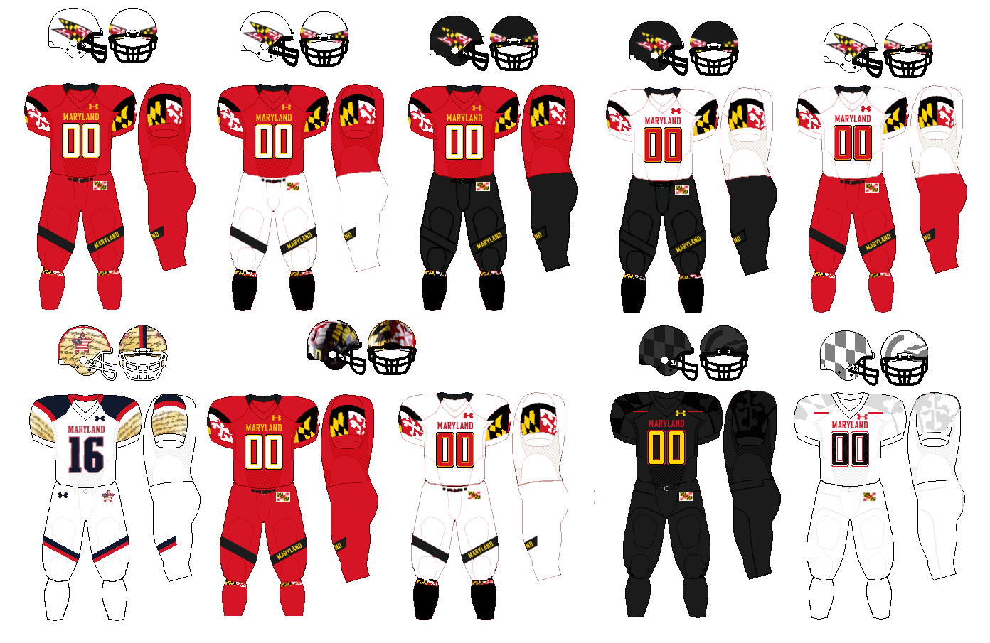 File 2014 Maryland Terrapins Football Uniforms Png