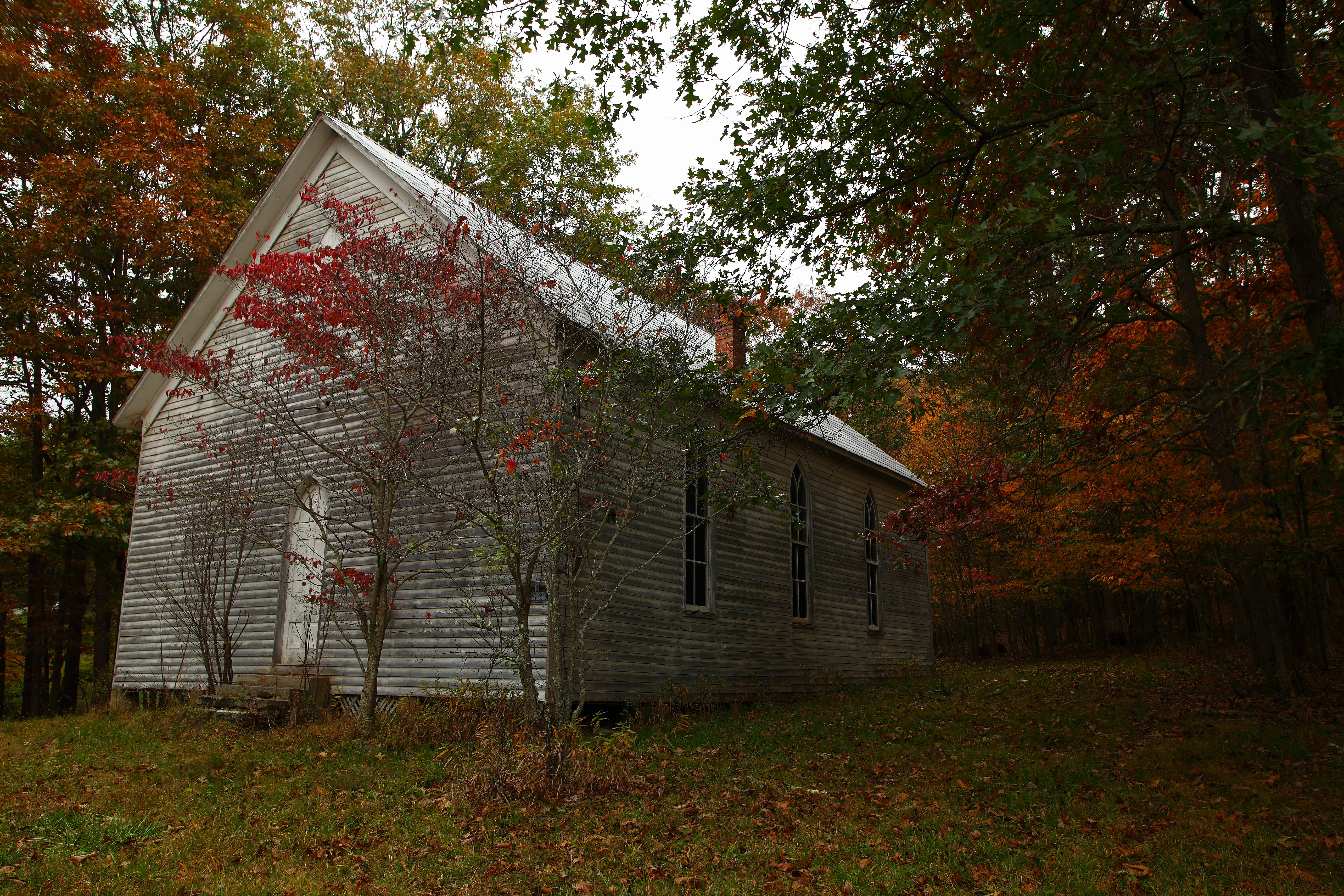File Abandoned Old Country Church Autumn Wv West Virginia