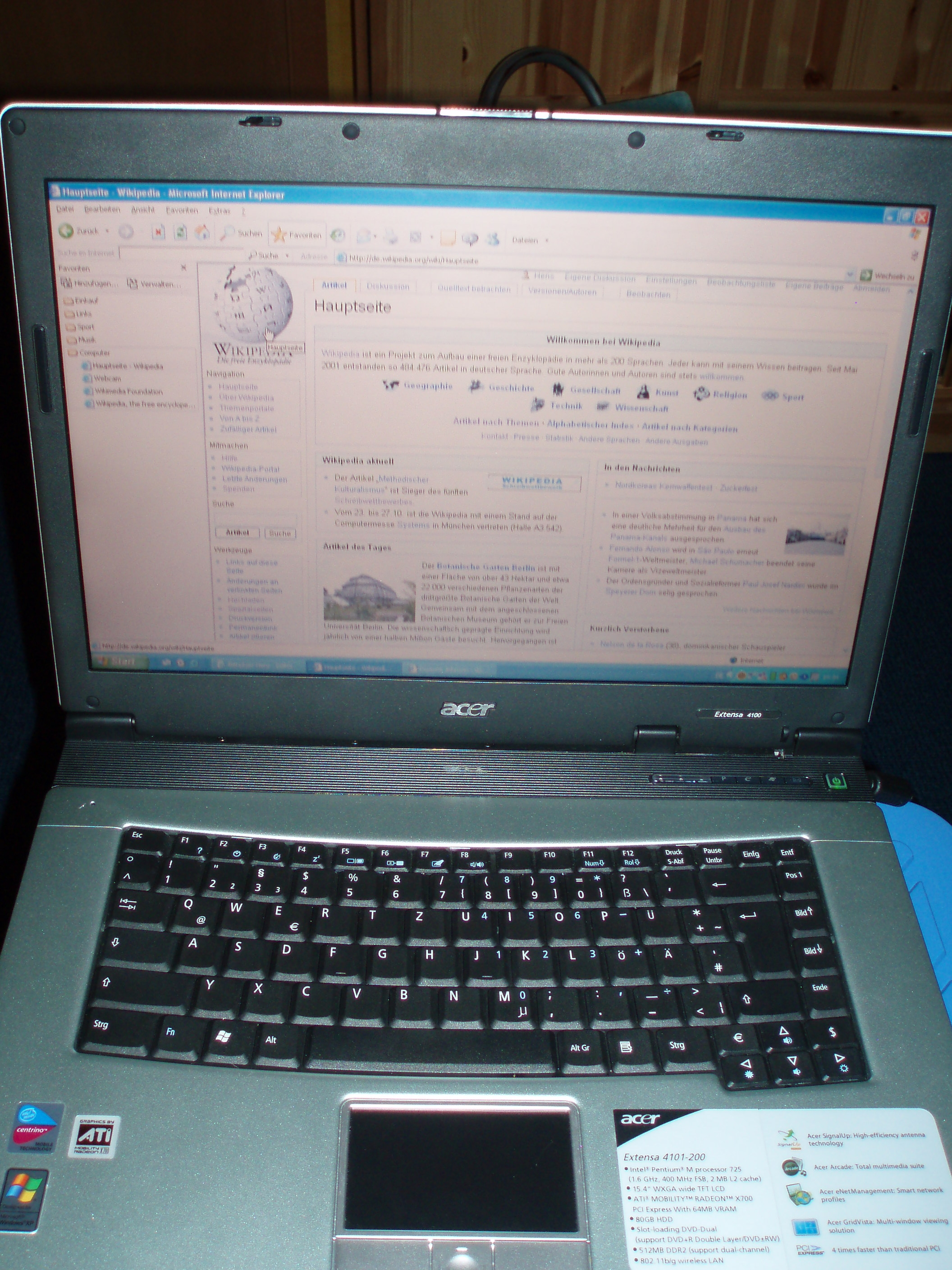 Acer Extensa 4100 Windows Vista 64-BIT