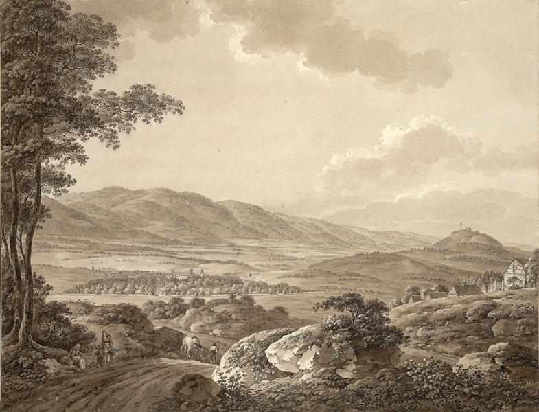 Adrian Zingg - Blick auf Teplitz in Böhmen