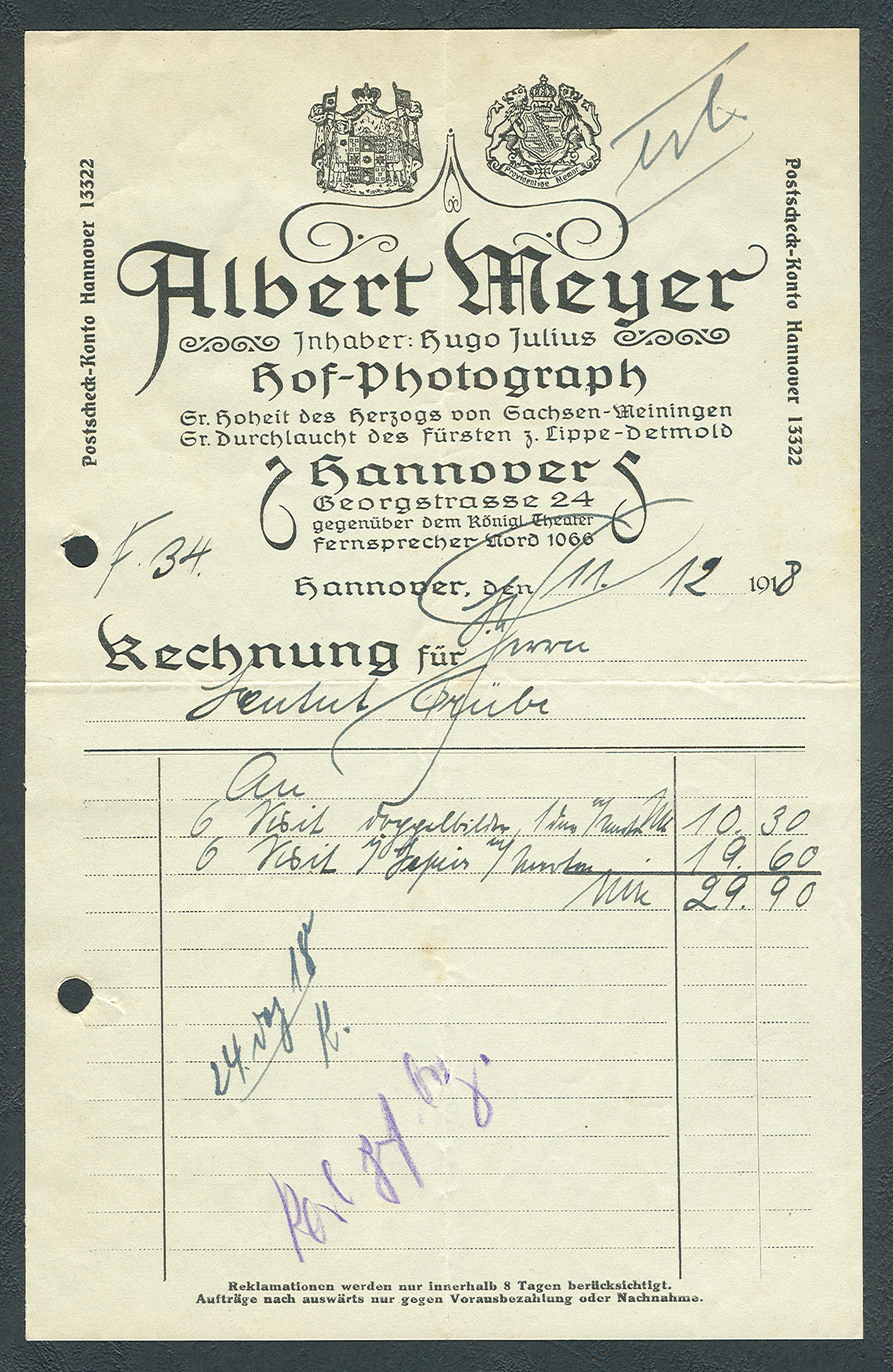 File Albert Meyer Inhaber Hugo Julius Hof Photograph