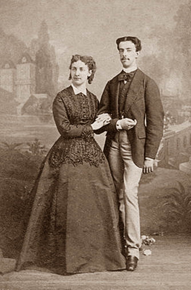 Amadeo of Savoy with his first wife.jpg