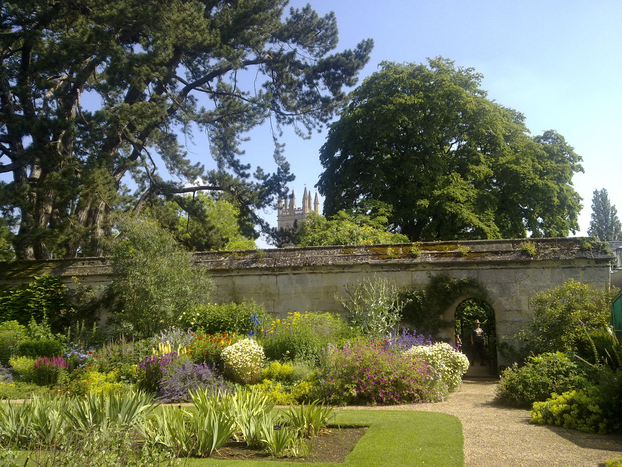 File:An Obscured Magdalen Great Tower From The Botanic Gardens