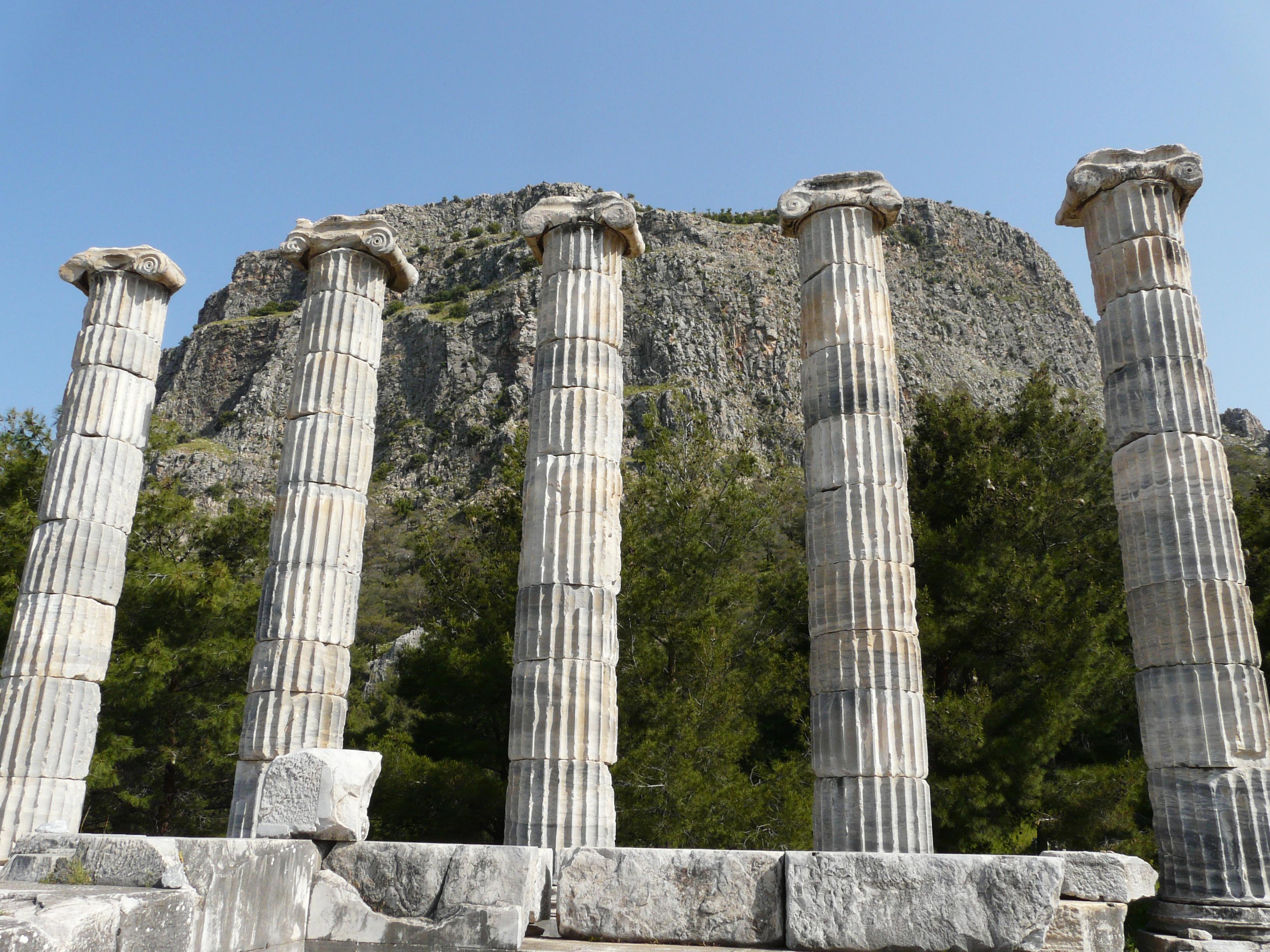 File:Athena temple at Priene.jpg - Wikimedia Commons