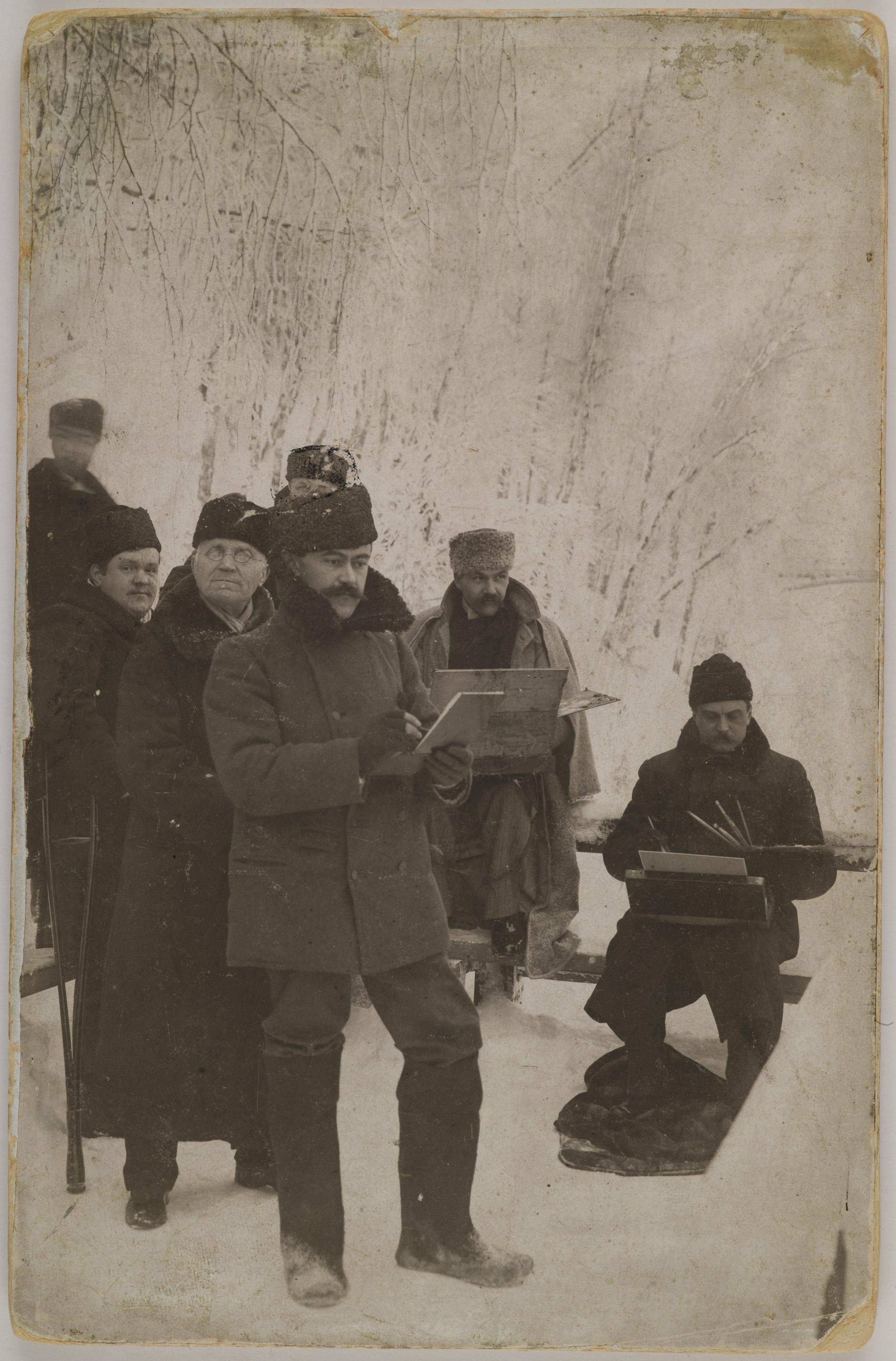 Axel Gallén, Louis Sparre and Albert Edelfelt painting at Imatra, 1893