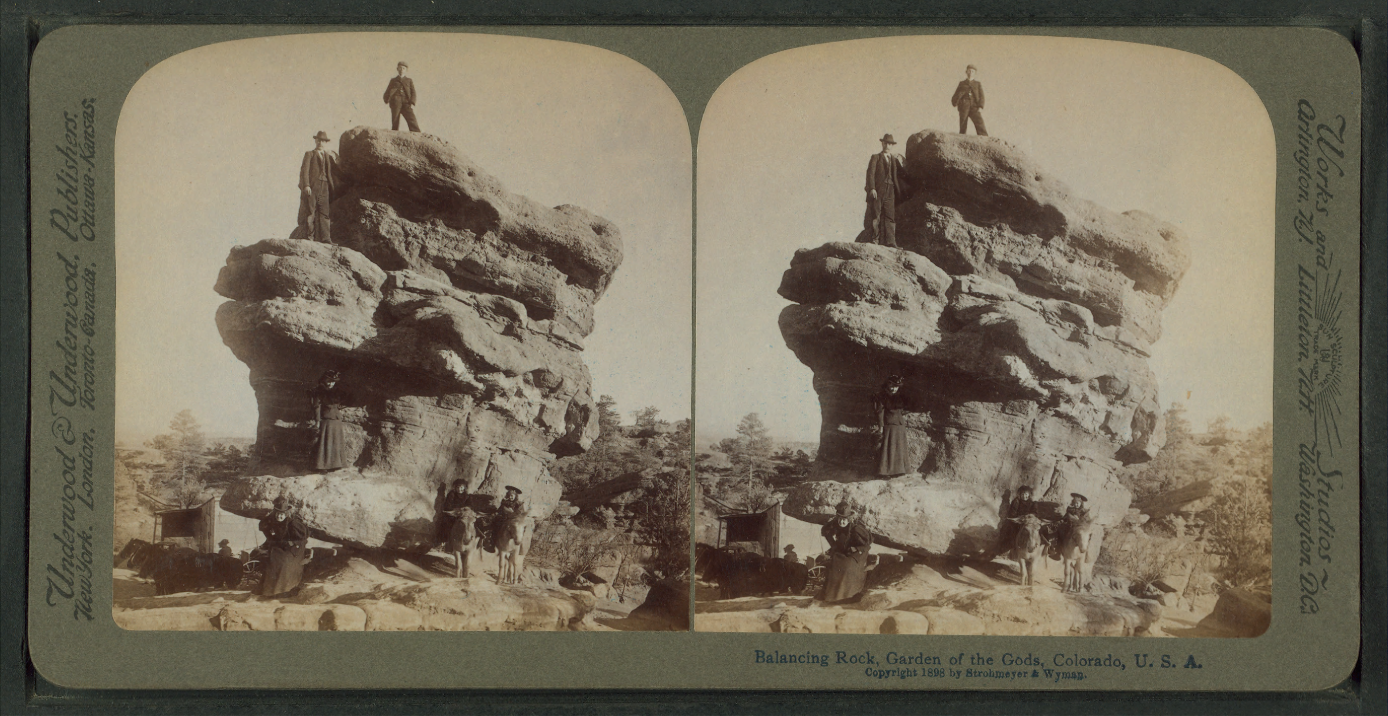 File Balancing Rock Garden Of The Gods Colorado U S A From Robert N Dennis Collection Of