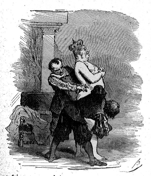 Ilustração de Bertall para o conto As Novas Roupas do Rei
