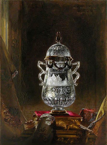 Nature morte : vase en cristal de roche