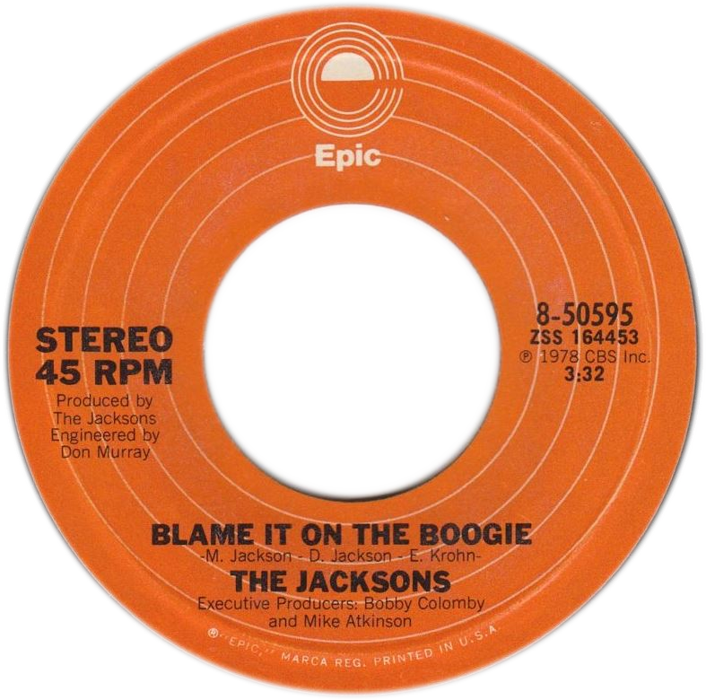 93f254cfd73bdf Blame It on the Boogie - Wikipedia