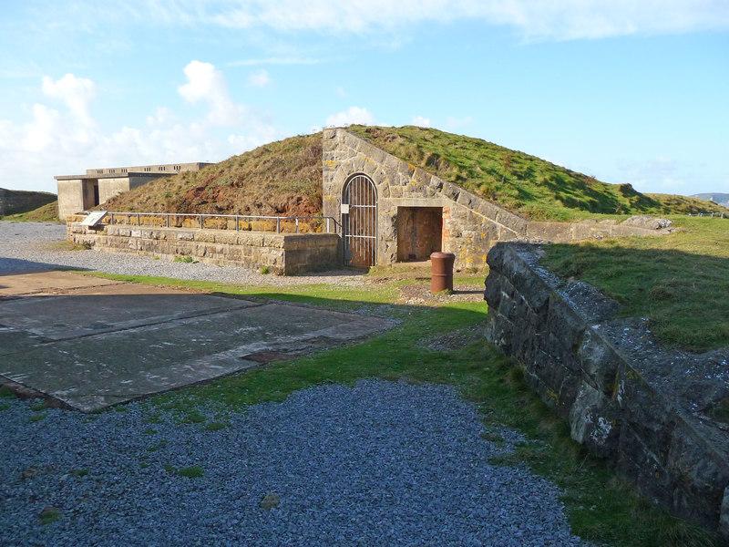 Brean Down - Brean Down Fort Powder Magazine (geograph 2794769)