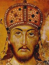 Датотека:Car Dušan, Manastir Lesnovo, XIV vek (cropped).jpg
