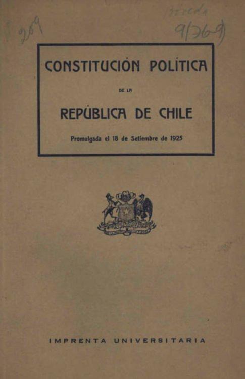 constituci243n pol237tica de la rep250blica de chile de 1925