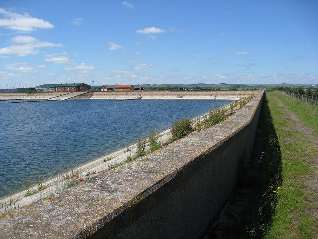 Covenham reservoir, sailing club and footpath - geograph.org.uk - 1934901