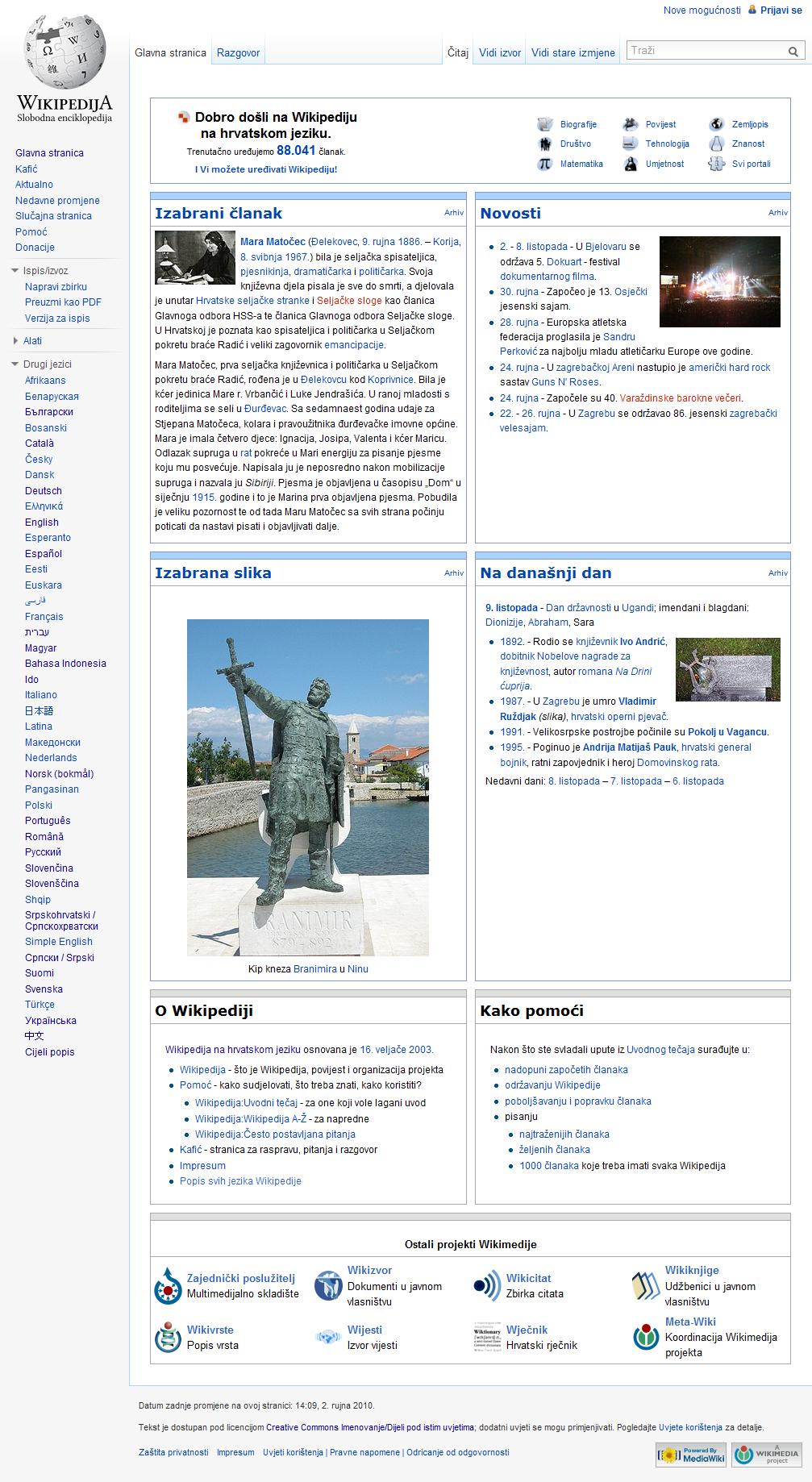 Croatian Wikipedia Wikidata