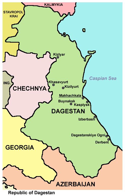 ダゲスタン共和国概略図
