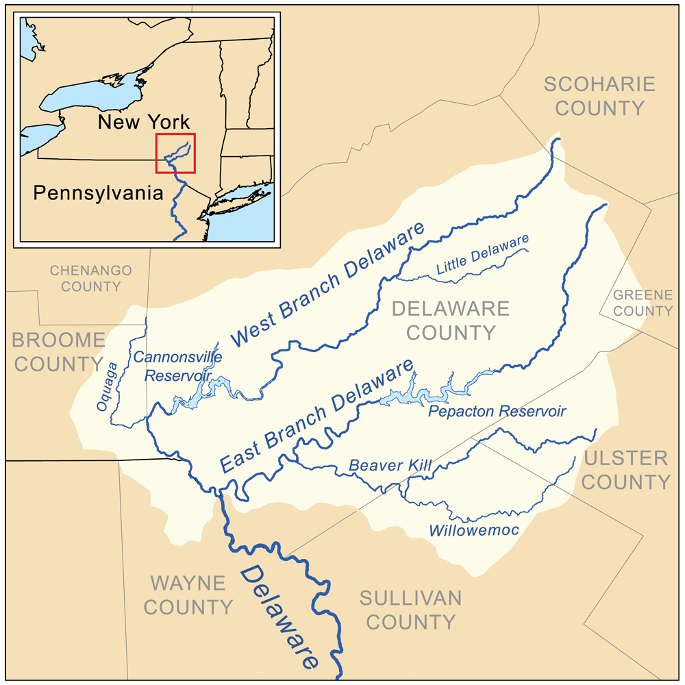 Map Of New York Rivers.Little Delaware River Wikipedia