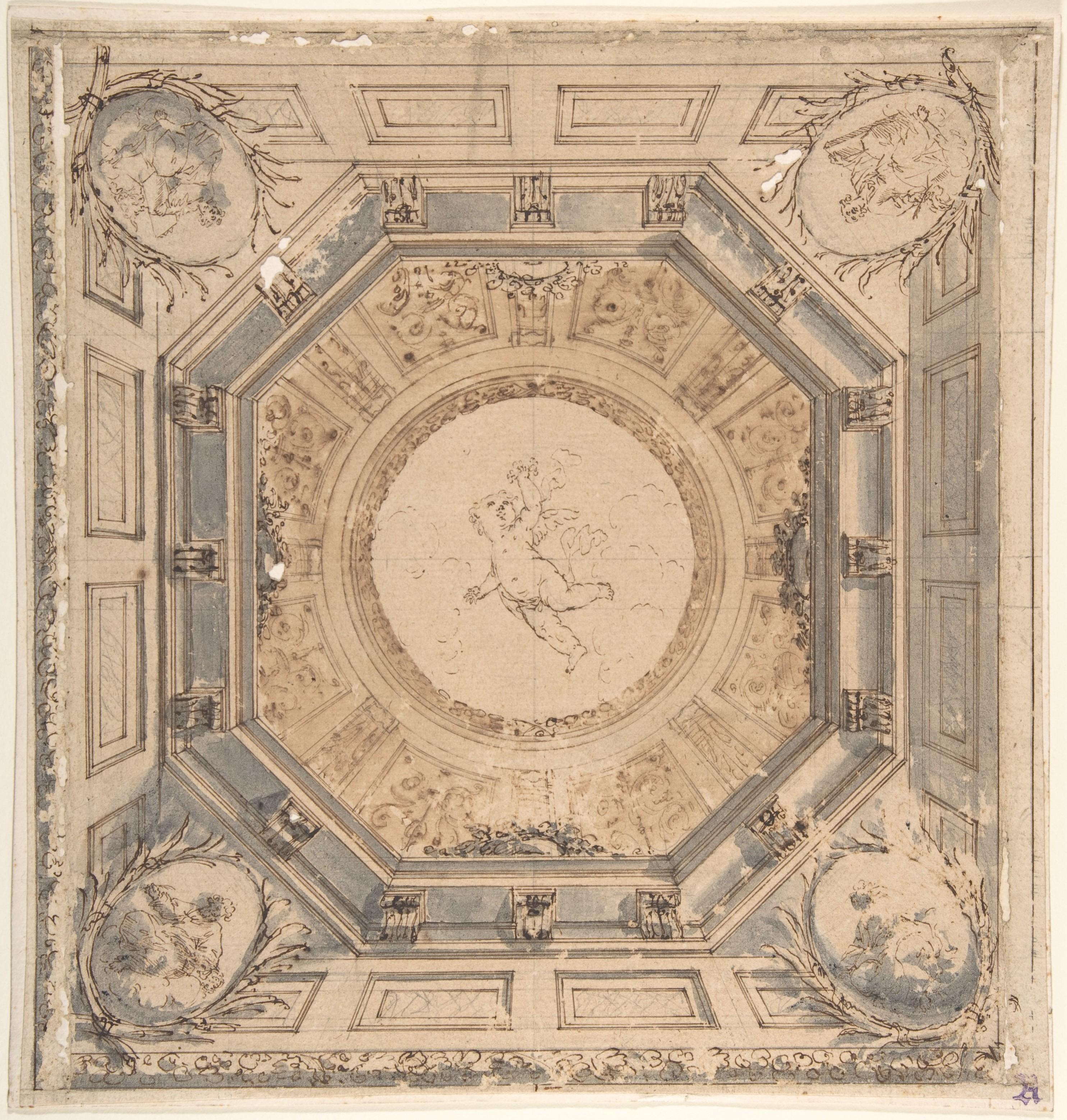 Square Trompe L Oeil Ceiling