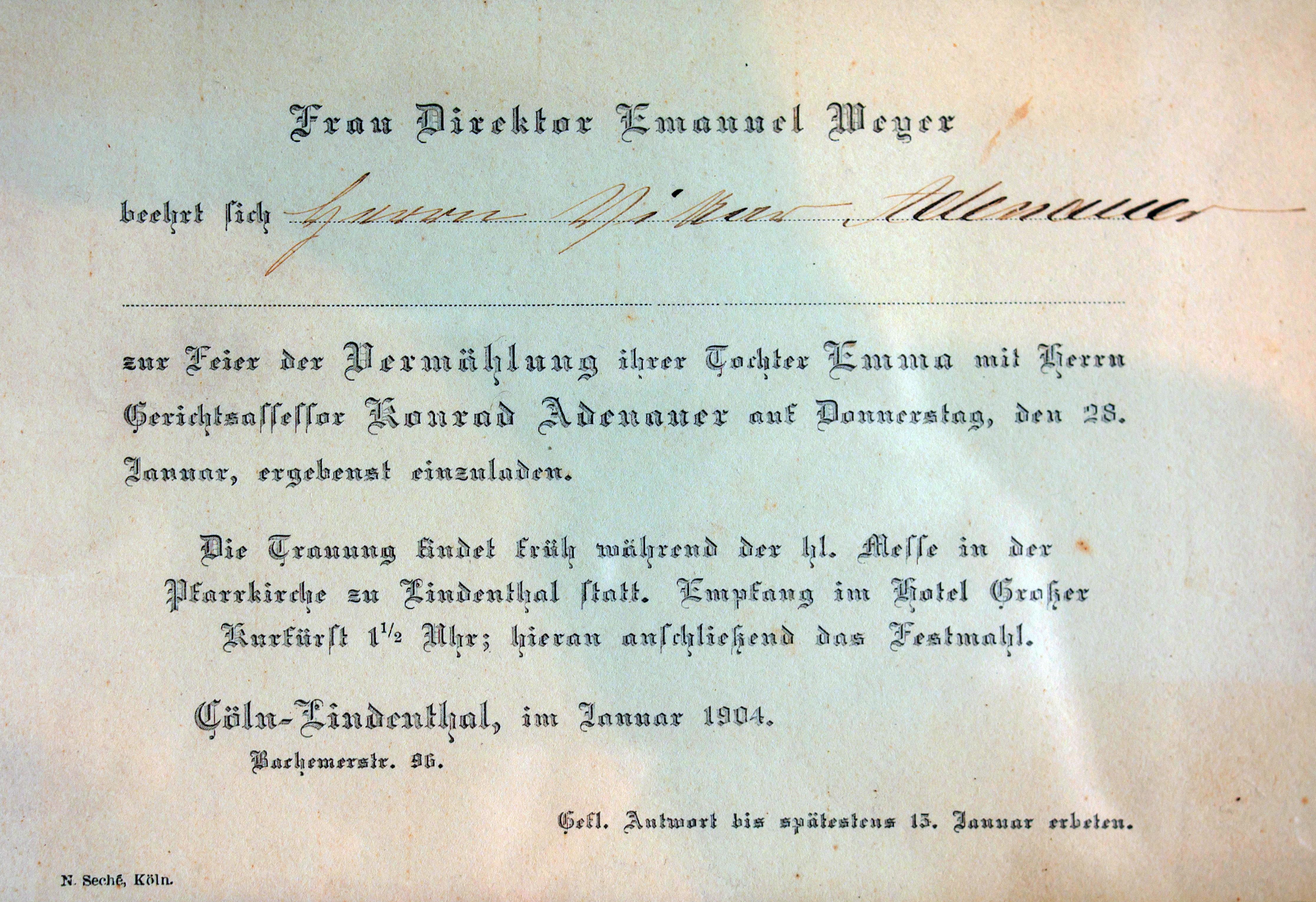 File:Einladung Hochzeit Emma Weyer Konrad Adenauer 5939 (cropped) 01