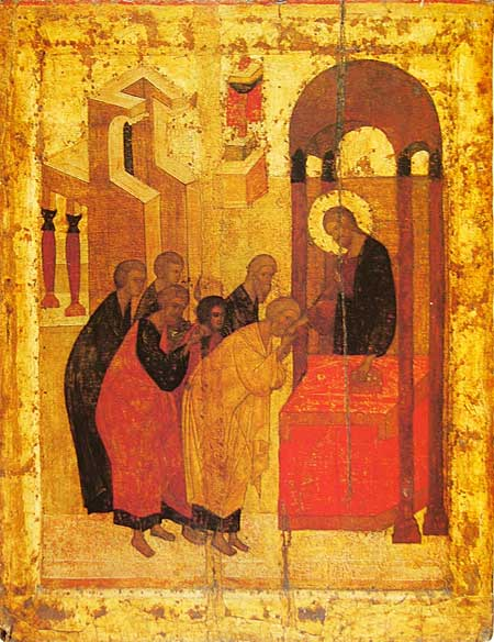 File:Eucharisty with bread (1420s, Sergiev Posad).jpg