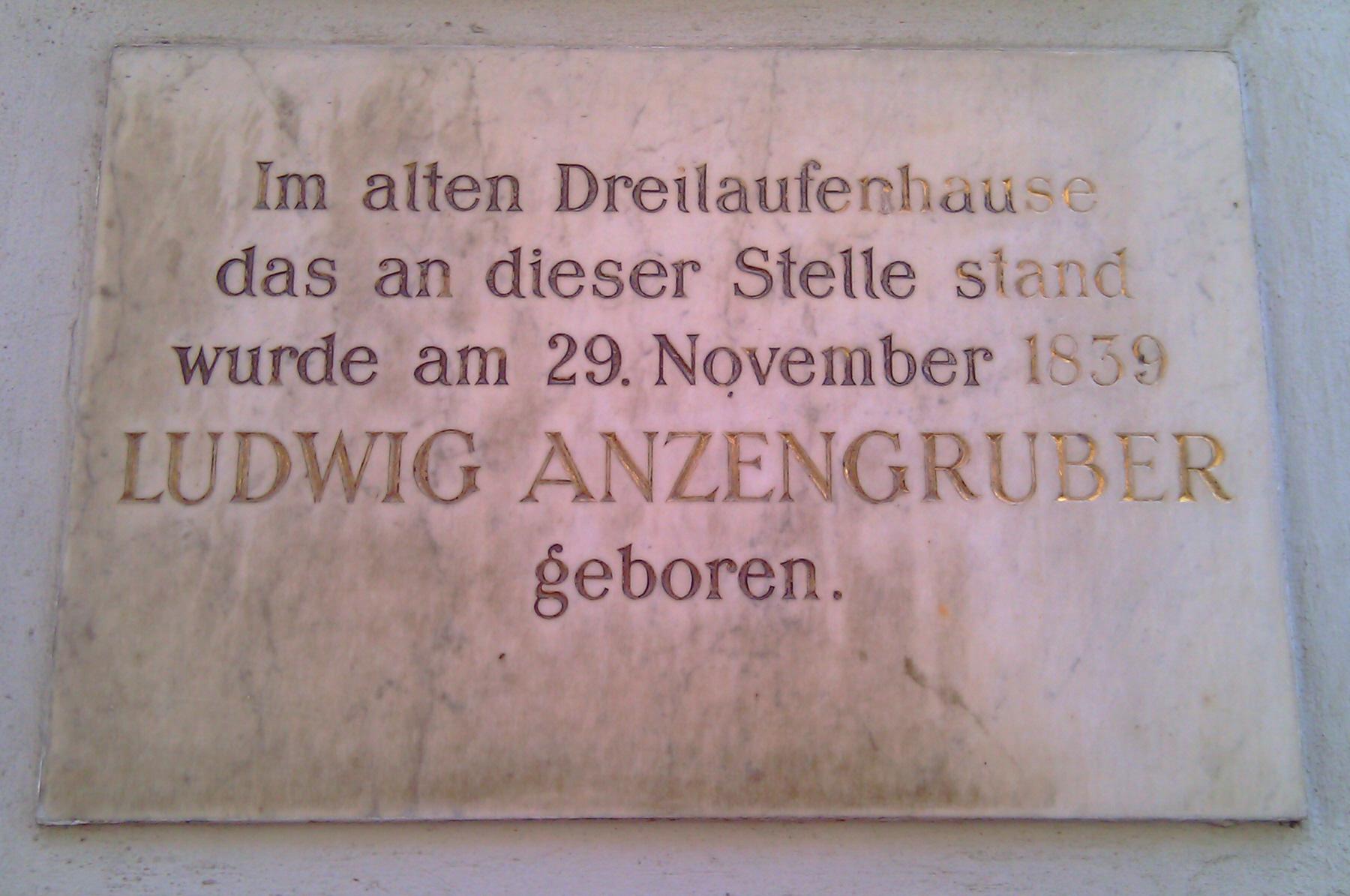 GuentherZ 2012-07-24 0033 Wien AlserStrasse38-Kinderspitalgasse01 Gedenktafel Ludwig Anzengruber.jpg