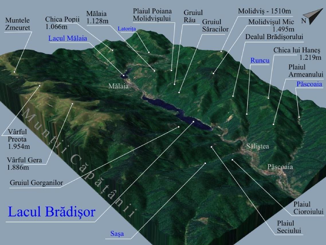 File Harta 3d Pentru Lacul Bradisor Si Malaia De Pe Raul Lotru