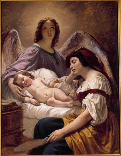 Henri Decaisne - L'Ange gardien, vers 1836.jpg