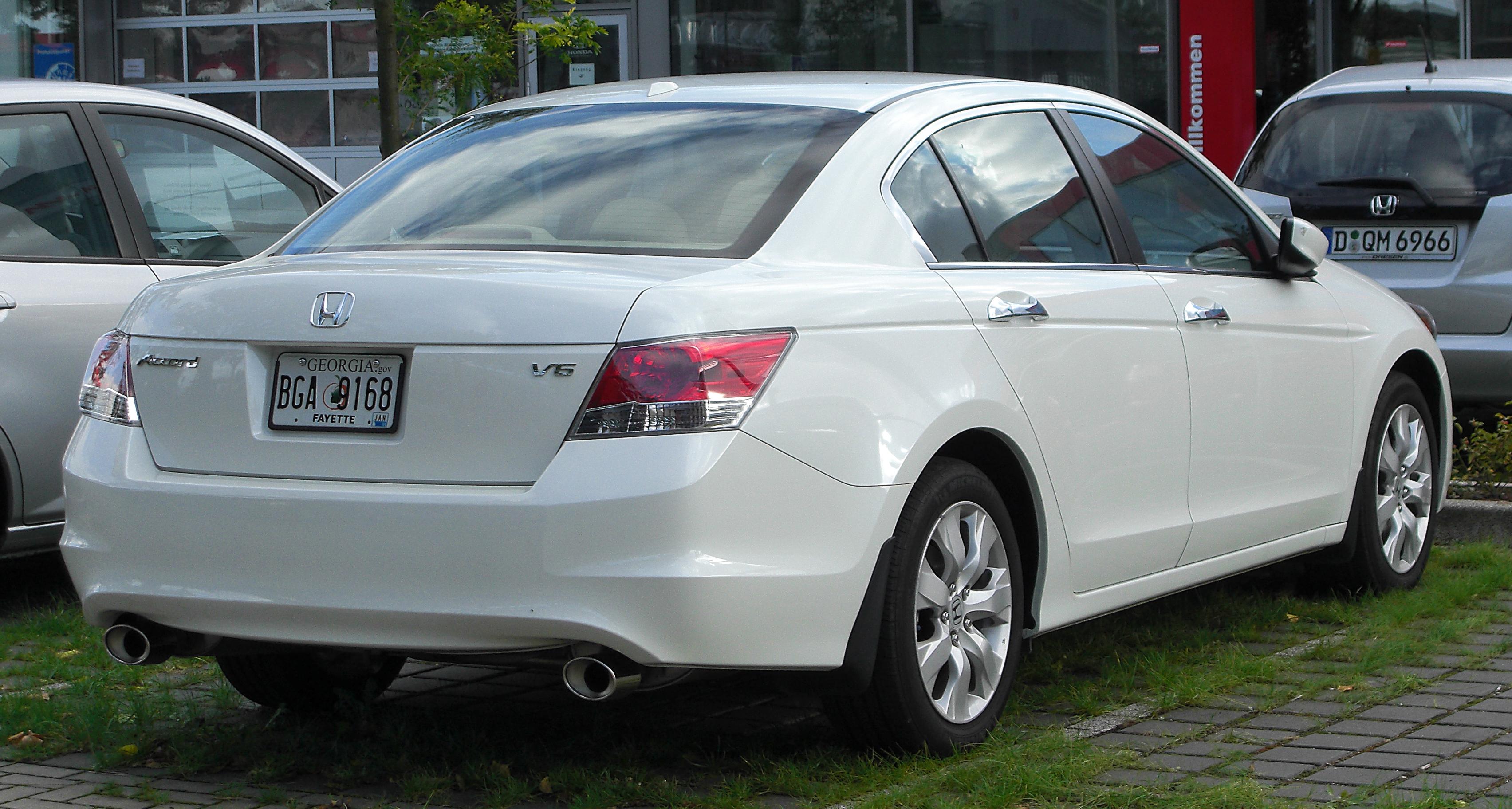 File Honda Accord Viii V6 Us Rear 20100925 Jpg Wikimedia Commons