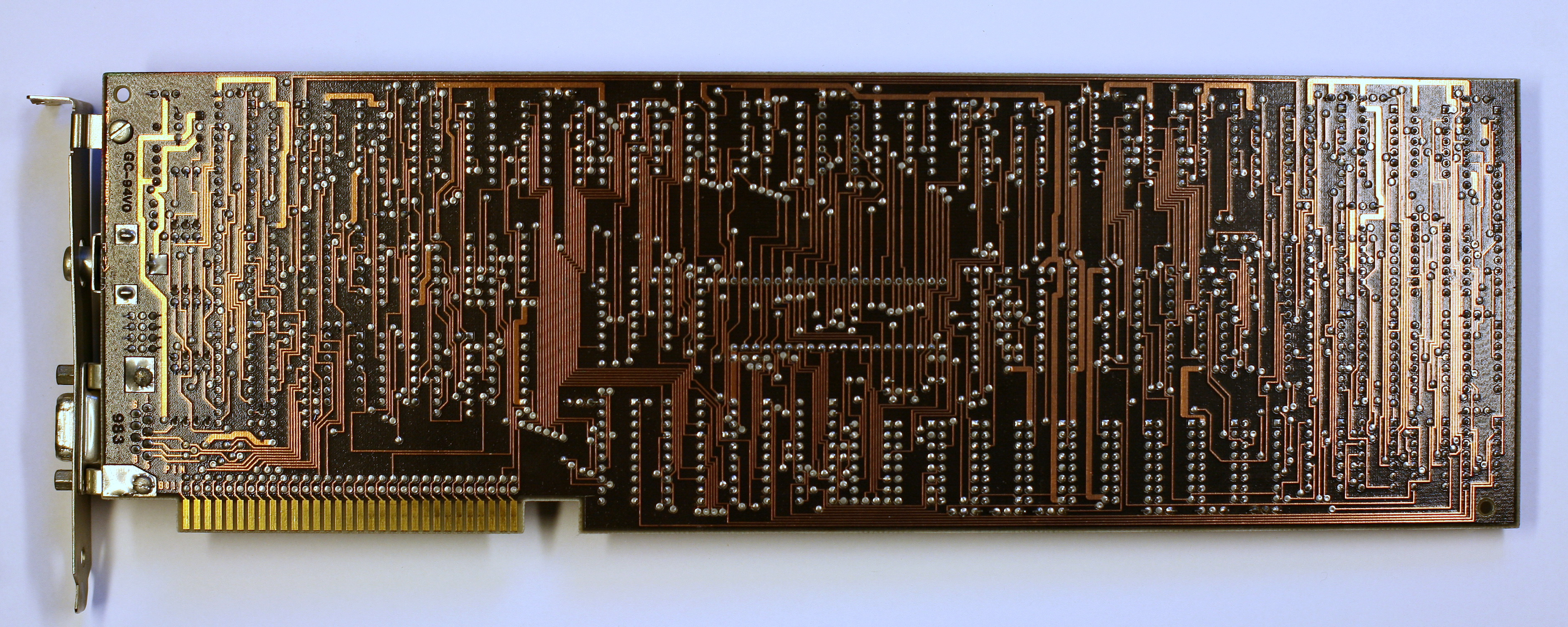 Fileibm Pc Xt Cga Pcb Solder Side Wikimedia Commons For Circuit Boards