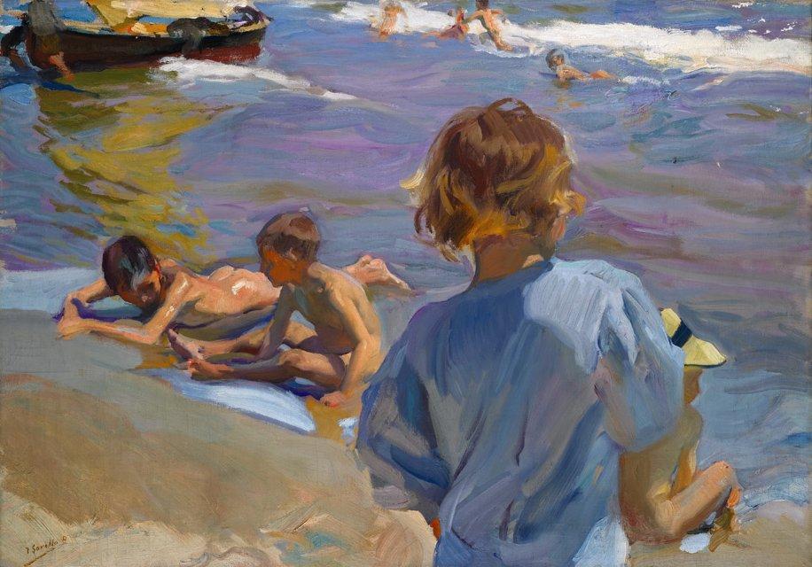 File joaqu n sorolla ni os en la playa 1916 sotheby 39 s - Galeria de arte sorolla ...