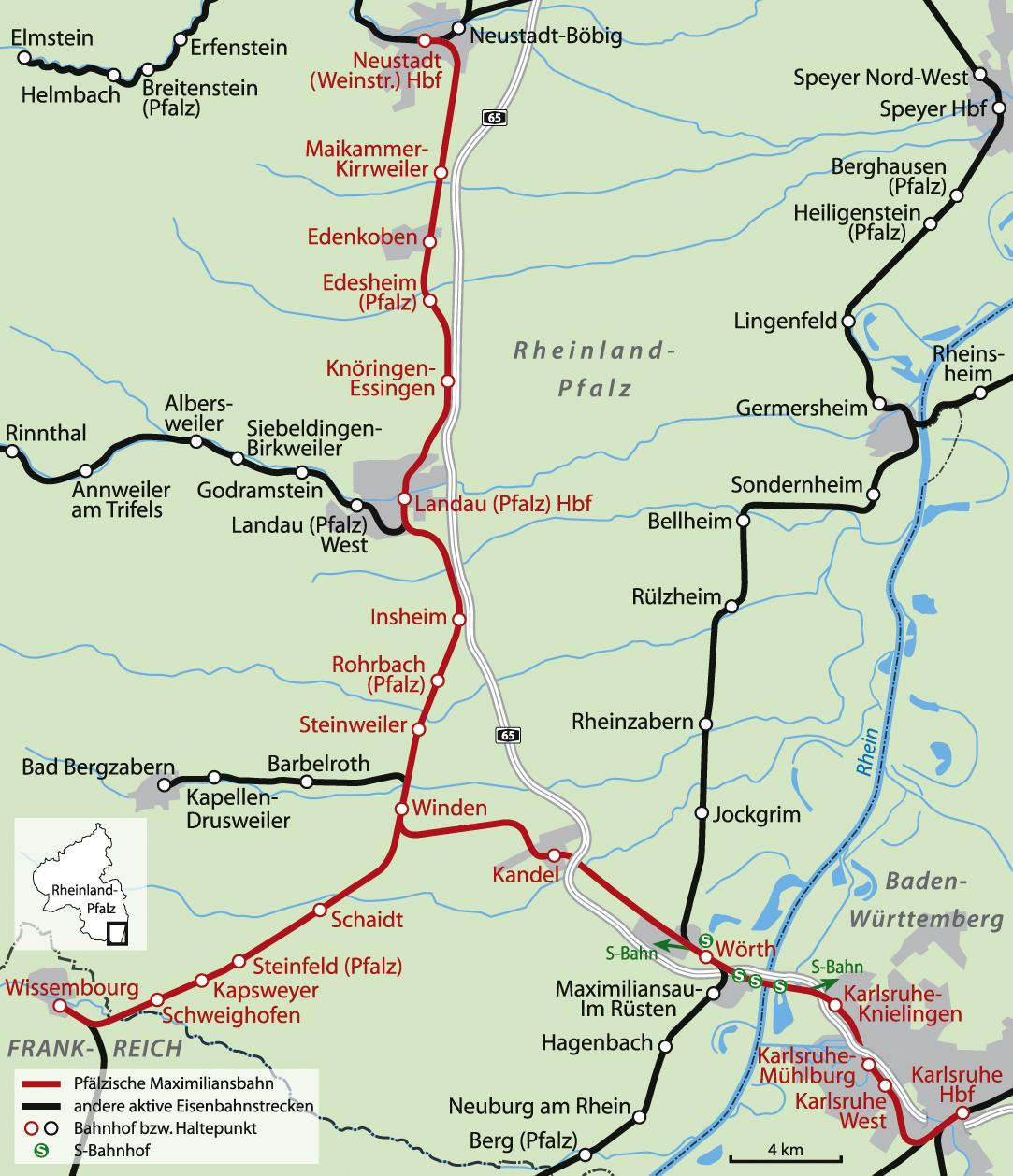 Neustadt Wissembourg Railway Wikipedia