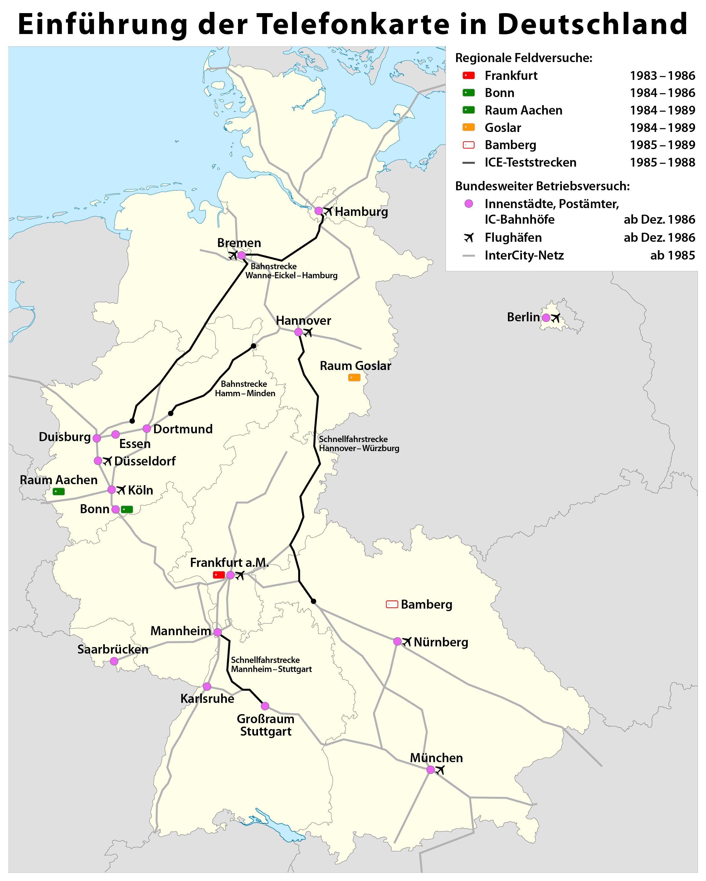 File:Karte zur Einführung der Telefonkarte in Deutschland.png ... - Bonn Karte Deutschland