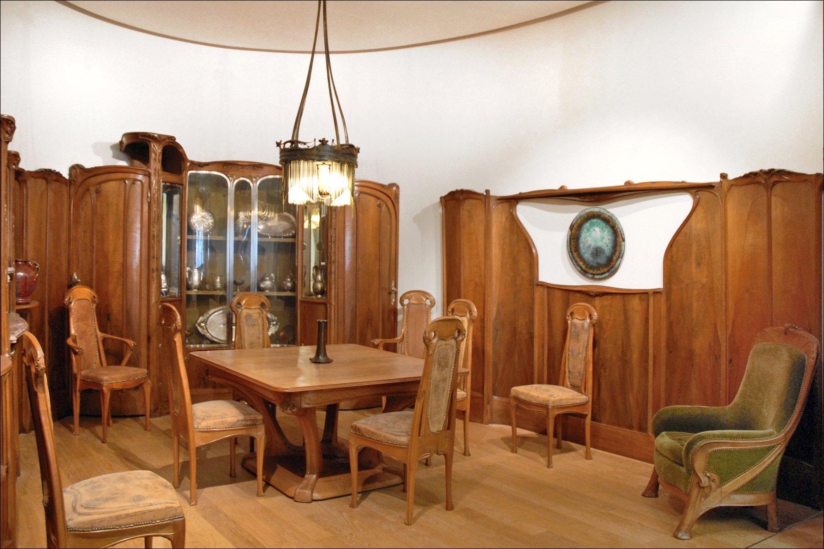 file la salle manger de lh tel guimard petit palais. Black Bedroom Furniture Sets. Home Design Ideas