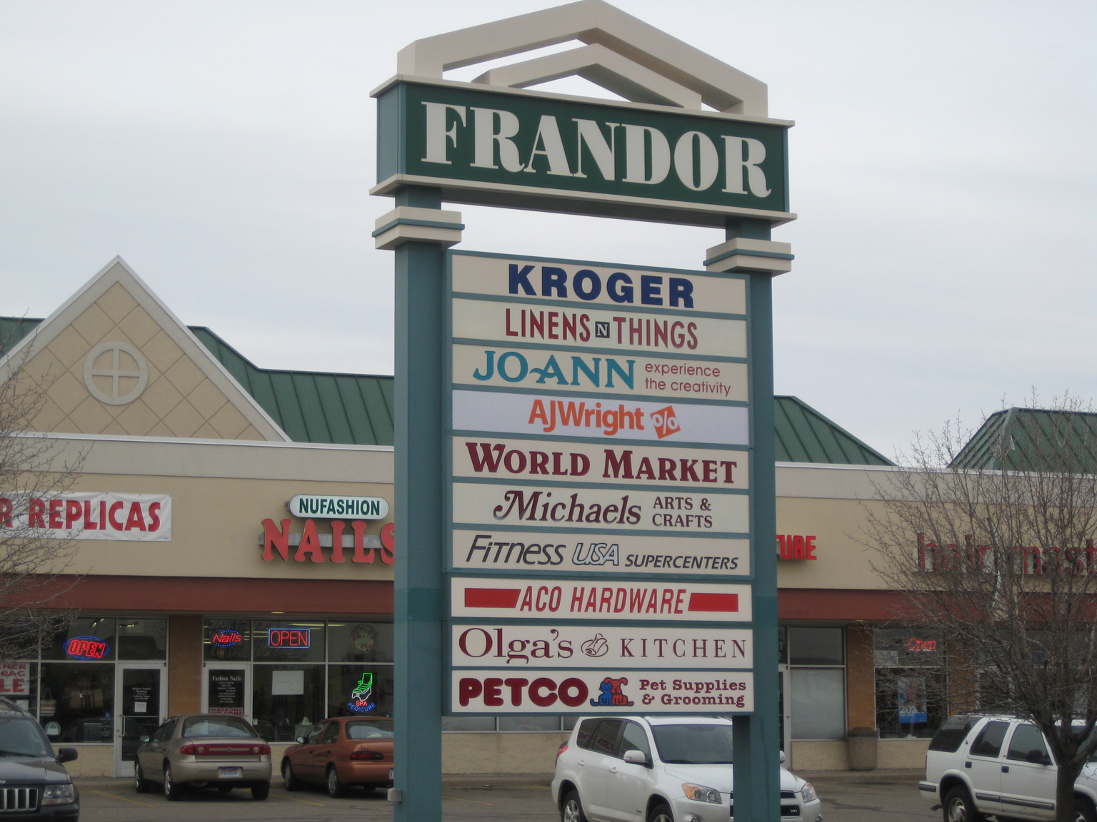 File Lansing Frandor Mall Shopping Center Sign Jpg Wikipedia
