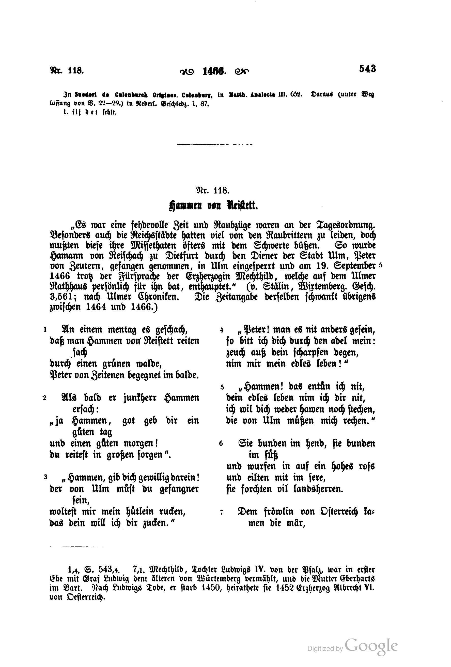 Fileliliencron Die Historischen Volkslieder Der Deutschen 1