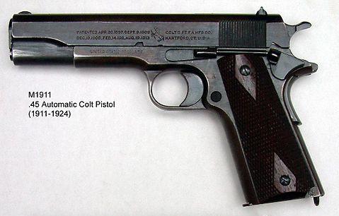 M 1911 File:M1911 pistol.jpg - Wikimedia Commons