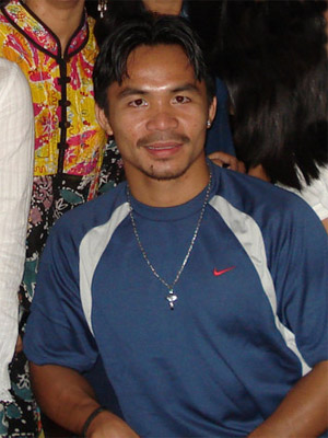 Philippine boxer Manny Pacquiao at Waterfront ...
